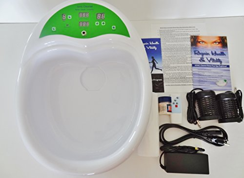 Ionic Ion Cleanse Detox Foot Spa Chi Bath. Fully Integrated Unit With Heavy Duty Acrylic Foot Basin. by BHC