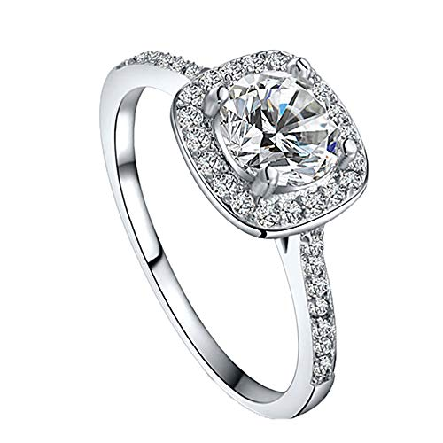 Londony  Jewelry Women's Ring 18k Gold Plated Square Cubic Zircon Engagement Ring Diamond Engagement Ring Wedding