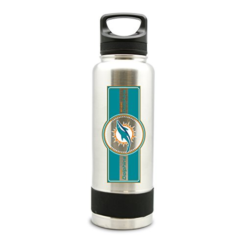 NFL Miami Dolphins 38oz Double Wall Stainless Steel Large Water Bottle