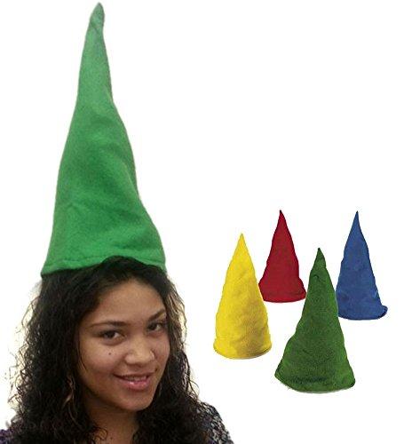 [Felt Gnome Hats - Set Of Dozen Felt Gnome Hats In Assorted Colors] (Gnome Hats)