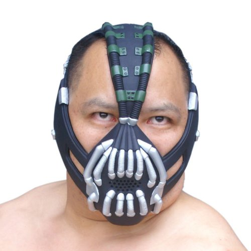 Bane Mask Replica Silver Version Adult Size for Batman the Dark Knight Rises (Bane Mask Voice Changer)