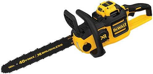 DEWALT DCCS6901H1 40 V 6AH Lithium Ion XR Brushless Chainsaw, 16 Inches