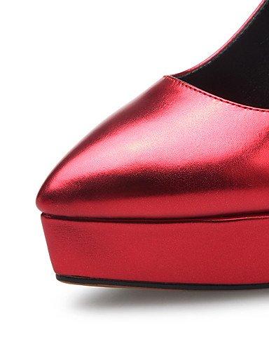 us5 5 geschlossen Damen GGX Winter NEUHEIT Frühling uk3 5 heelswedding eu36 Herbst Schuhe Heels red Zehen cn35 Sommer Plattform FwTTOS