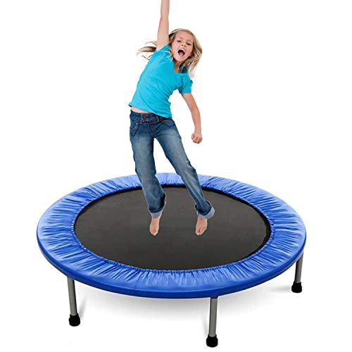 Grist-CC-Trampoline-Safety-Fitness-Gym-Exercise-Kids-Indoor-Outdoor-Mini-Jumper-Fitness-Weight-Loss-Physical-Height-Increase-Blue