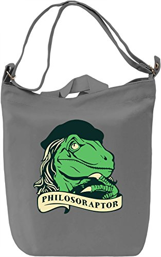 Philosoraptor Borsa Giornaliera Canvas Canvas Day Bag| 100% Premium Cotton Canvas| DTG Printing|