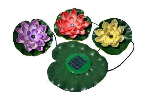 Solarrific G4043 Floating Solar LED Lily -