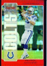 - 2005 Bowman Chrome Red Refractors Football Card IN SCREWDOWN CASE #1 Peyton Manning Mint