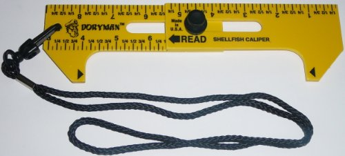 Doryman Shellfish Caliper - Floating Ruler - 3-6.5 Inch (Yellow) ()