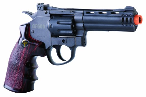 Magnum 357 Airsoft - GameFace ACG357 Crosman GF600 357 Revolver CO2 Powered Semi Auto 8-Shot Airsoft Revolver
