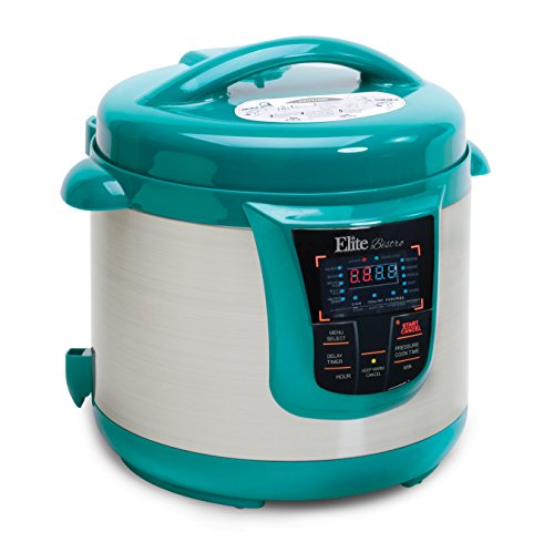 Elite Platinum 8 Quart 14-in-1 Multi-Use Programmable Pressure Cooker, Slow Cooker, Rice Cooker, Sauté, and Warmer - Turquoise