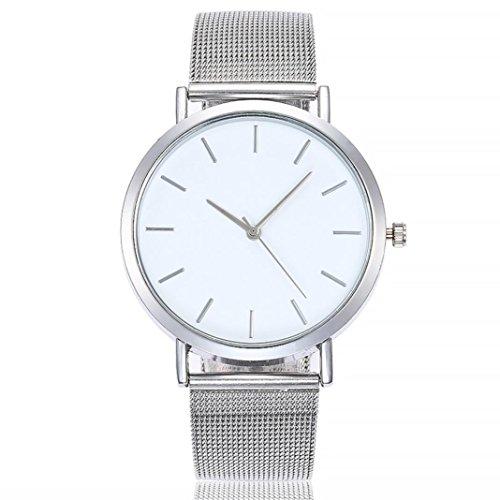 - Women Watch Fashion Steel Watch Daoroka Casual Quartz Stainless Band Marble Strap Analog Wrist (Sliver)