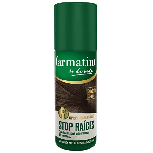 Farmatint Spray Instantaneo Capilar Stop Raices, Color Castano Claro - 75 ml