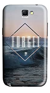 Quotes Forget Freak Polycarbonate Hard Case Back for Samsung Galaxy Note 2 / Note II / N7100