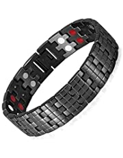 Medical energy bracelet with germanium stone to get rid of electrical charges in the body and balance for men - 2724447260749