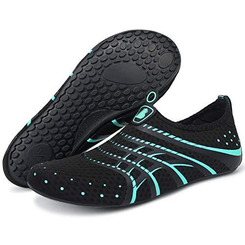 Barerun Girls Boys Water Shoes for Water Water Aerobics Blue 12-13 M US
