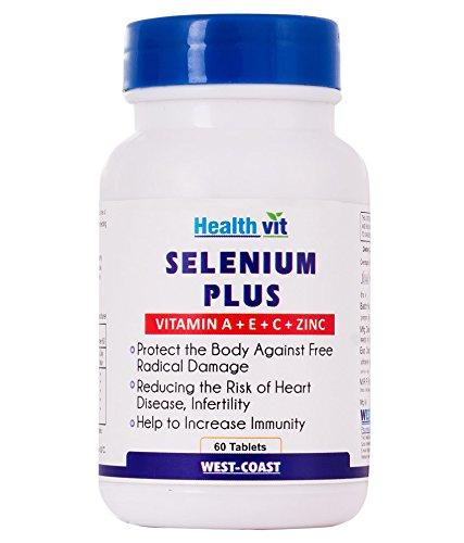 Buy Healthvit Selenium Plus Vitamins A C E Zinc 60 Tablets