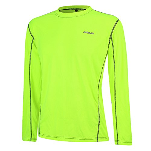 AIRTRACKS FUNKTIONS RUNNING T-SHIRT / LAUFSHIRT / LANGARM PRO AIR - neon - L