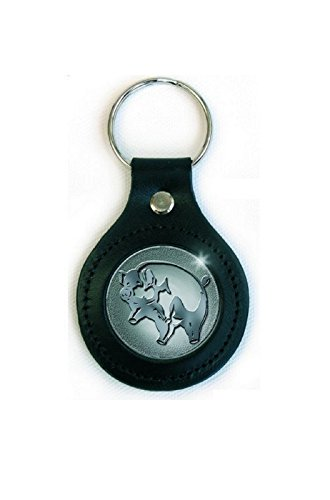 Icon Leather Vest (Pink Floyd Keyring Keychain Animals Icon Logo Official Leather)