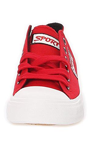 Damen Schuhe Sneakers Schlüpfschuhe Sportschuhe Sommerschuhe Turnschuhe 183 Rot