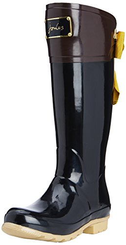 Joules Women's Evedon Welly Knee-High Boots Black /Black