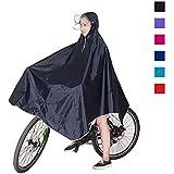 レインコート 自転車 バイク ポンチョ レインウェア レインポンチョ 雨合羽 カッパ レインコート レディース メンズ 女性用 男性用 フリーサイズ 防水性 ツバ付 パーカー 山登り トレッキング レインウエア(ダークブルー)