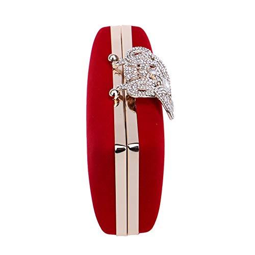 Dîner D'embrayage Bandoulière Rouge De Dame Pejgd couleur Main Soirée A Robe Bleu À Mode La Pour Couronne Élégant Sac Simplicité Femme wRwqTX1a