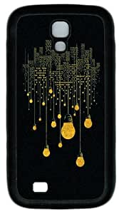 City Lights Custom Designer Samsung Galaxy S4 Case and Cover - TPU - Black