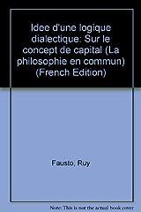 Idée d'une logique dialectique Capa comum