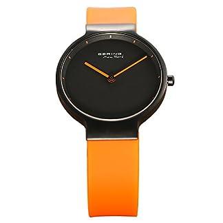 Bering Time 12631-828 – Reloj para mujeres, correa de plástico color naranja