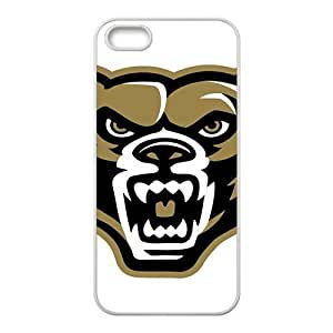 NCAA Oakland Golden Grizzlies Primary 2012 White For Iphone 5C Phone Case Cover