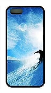iPhone 5 5S Case Ski TPU Custom iPhone 5 5S Case Cover Black