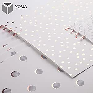 YOMA Rose Gold Foil Hanging File Folders, Reinforced 1/5-Cut Tab, Letter Size, 12 per Box color