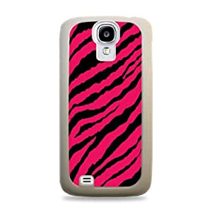 Pink Zebra Pattern White Silicone Protective Case Cover for Samsung Galaxy S4