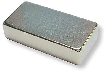 5 x Quadermagnet 5 kg Magnetquader  18 x  10 x  5mm Neodym N45SH Nickel