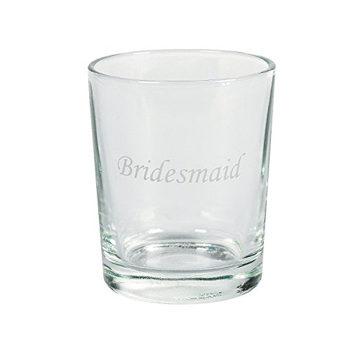 Wedding Shot Glasses: Etched Glass Wedding Party Shot Glasses 1 Dz Bridesmaid