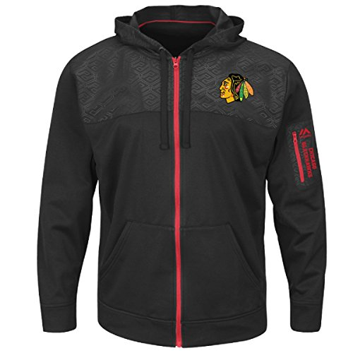 Base Therma Sweatshirt (Majestic Athletic Chicago Blackhawks Black Ready For Action Full Zip Therma Base Sweatshirt Hoody (S))