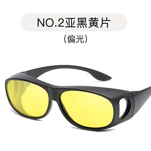 Burenqiq Miroir Sports and yellow Hommes Lunettes air de polarisé Miroir Miroir Soleil tablets Black de Conduite Plein de rUAgr