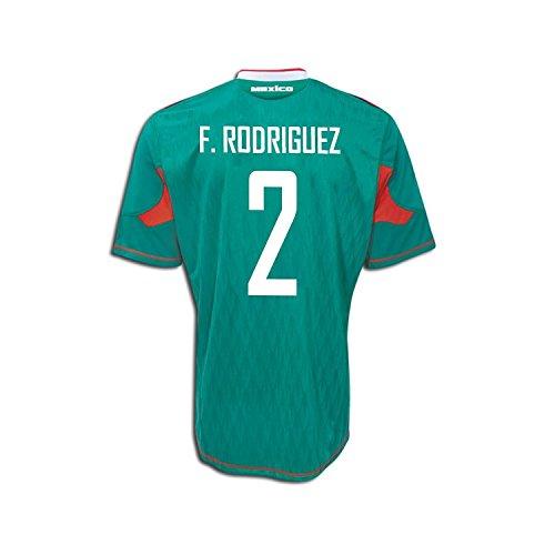 厄介な大宇宙気候の山Adidas F. Rodriguez #2 Mexico Home Soccer Jersey 2010/サッカーユニフォーム メキシコ ホーム用 背番号2 F. ロドリゲス