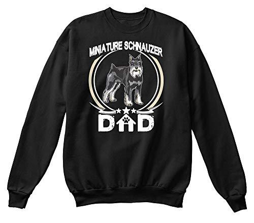 Miniature schnauzer dad S - Black Sweatshirt - Hanes Unisex Crewneck Sweatshirt