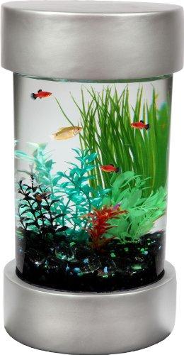 KollerCraft Aquarius Cosmo Panoramic Aquarium Kit with LED Lighting and Internal Power Filter, 6-Gallon by KollerCraft