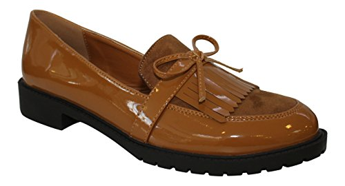 WS - Mocasines para mujer marrón claro