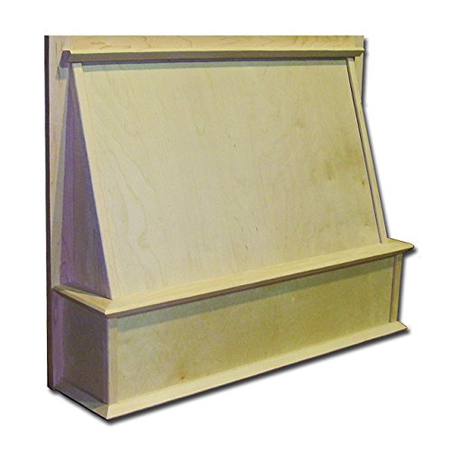 Shaker Style Range Hood Front, 36 x 24, Maple - from Castlewood by Castlewood