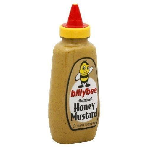 BILLY BEE MUSTARD SQZ HONEY ORGNL (Honey Mustard Dipping Sauce For Chicken Tenders)