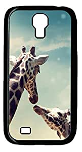Samsung Galaxy S4 Case, iCustomonline Lovely Giraffe Protcvtive Back Case Cover Skin for Samsung Galaxy S4 I9500 - Black