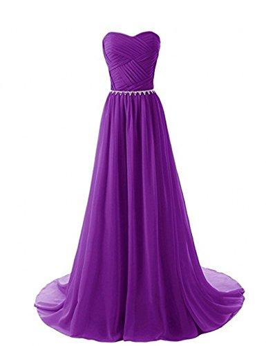 Linie Kleider Violett mia Jugendweihe Partykleider Damen A Abendkleider La Braut Blau Langes Ballkleider Chiffon Uqxx71HT