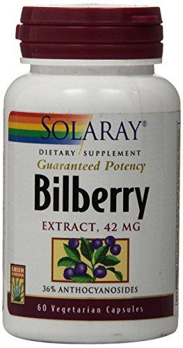 Solaray Bilberry Extract, 42mg, 60 (Solaray Bilberry Extract)