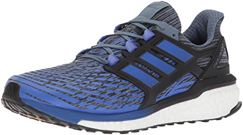 adidas Performance Men's Energy Boost M Running Shoe, Raw Steel/Hi-Res Blue/Core Black, 9.5 M US (Adidas Mens Steel Watch)