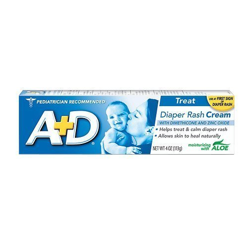 A+D Zinc Oxide Diaper Rash Cream with Aloe 4 oz (113 g)(pack of 2) by A&D
