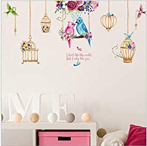 Bird Cage Chandelier Background Wall Decorative Wall Stickers