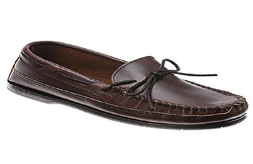 Minnetonka Men's Double Bottom Slip-On,Brown,13 M US